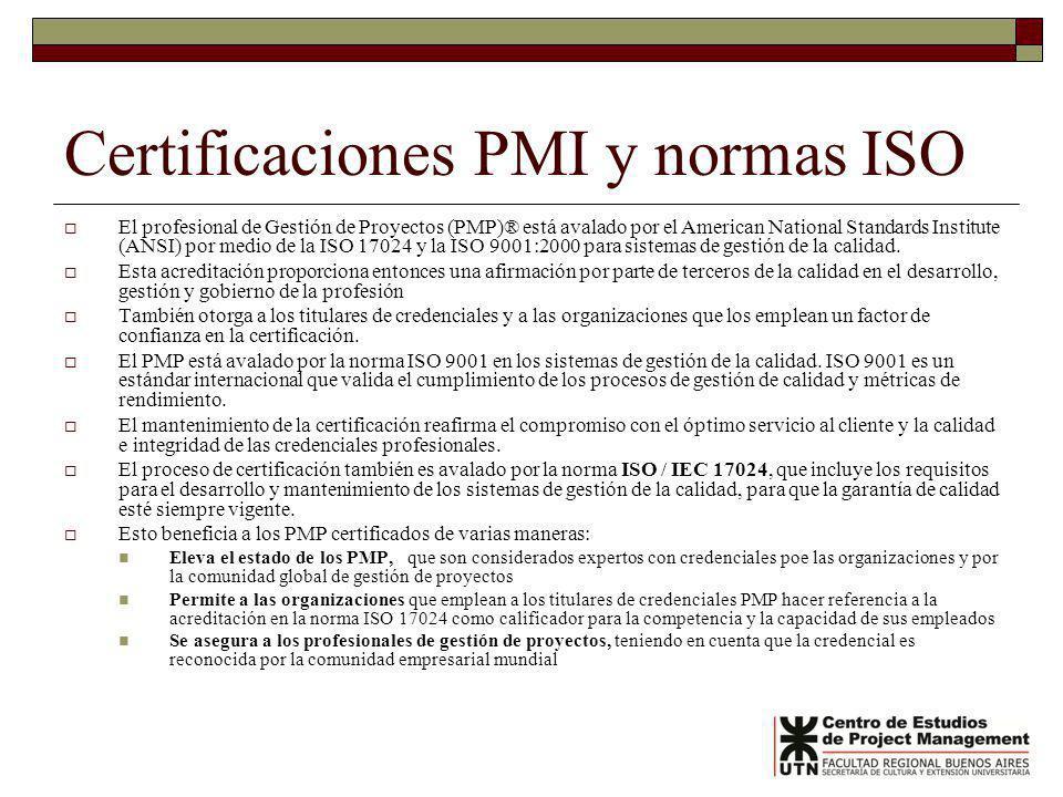 Certificaciones PMI y normas ISO