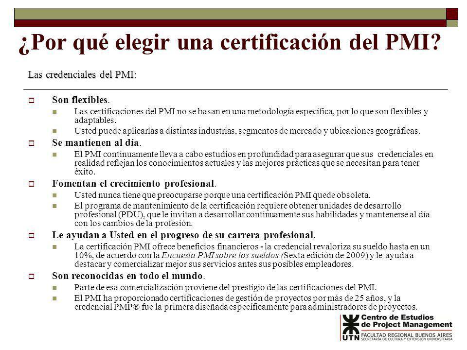 ¿Por qué elegir una certificación del PMI