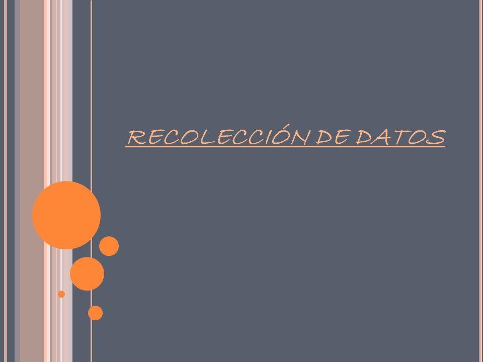 RECOLECCIÓN DE DATOS