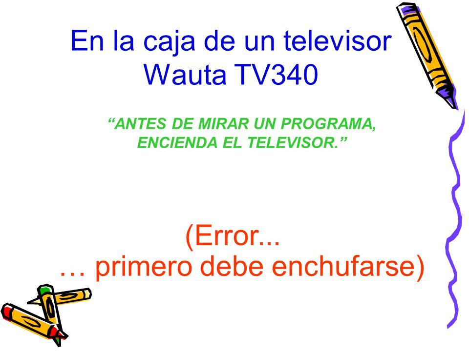 En la caja de un televisor Wauta TV340
