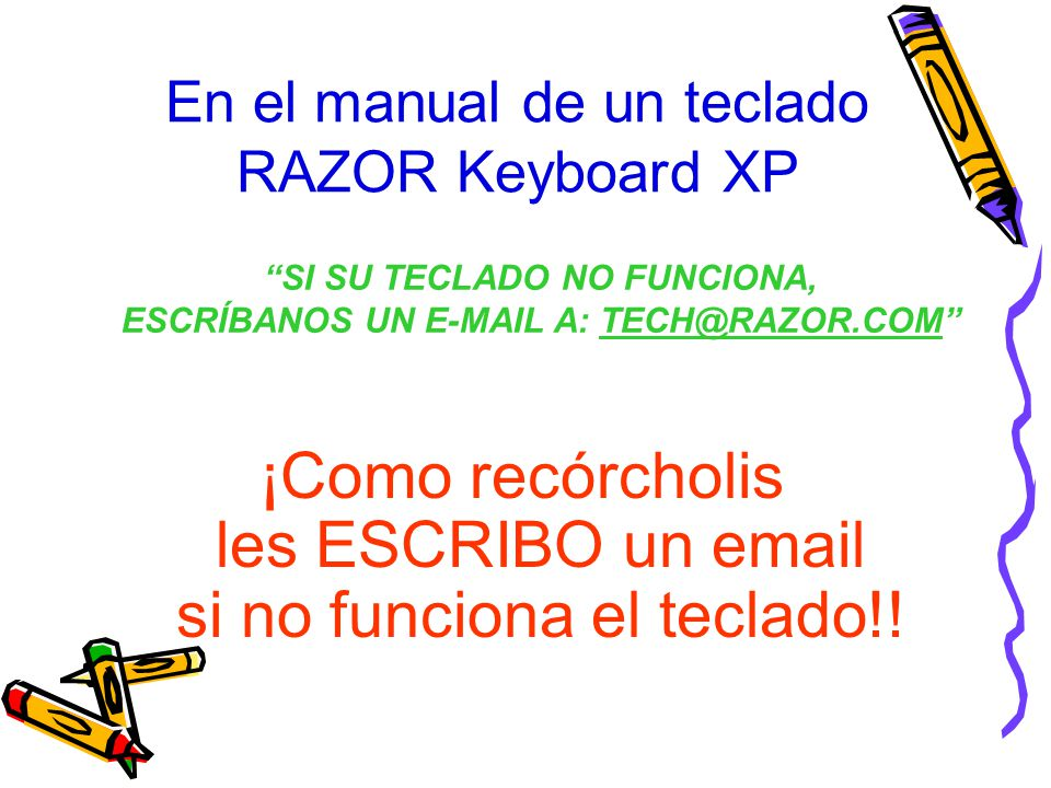 En el manual de un teclado RAZOR Keyboard XP