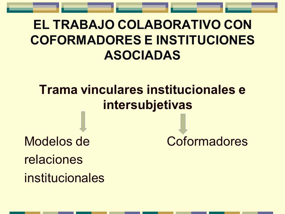 EL TRABAJO COLABORATIVO CON COFORMADORES E INSTITUCIONES ASOCIADAS