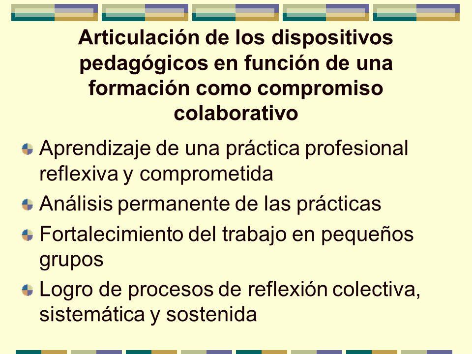 Articulación de los dispositivos pedagógicos en función de una formación como compromiso colaborativo