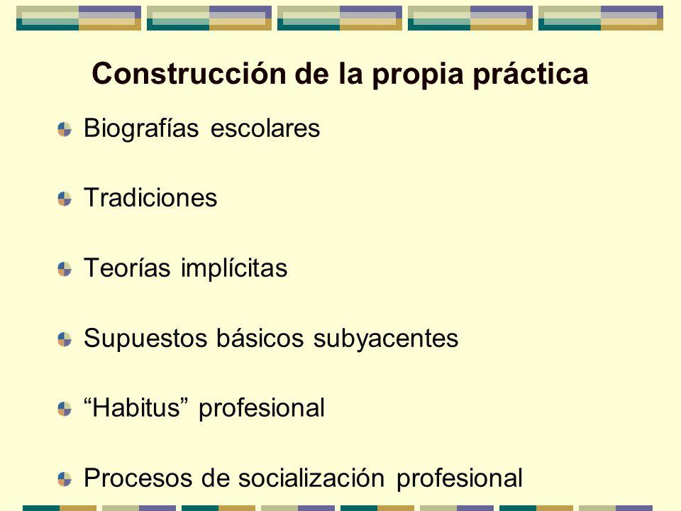 Construcción de la propia práctica