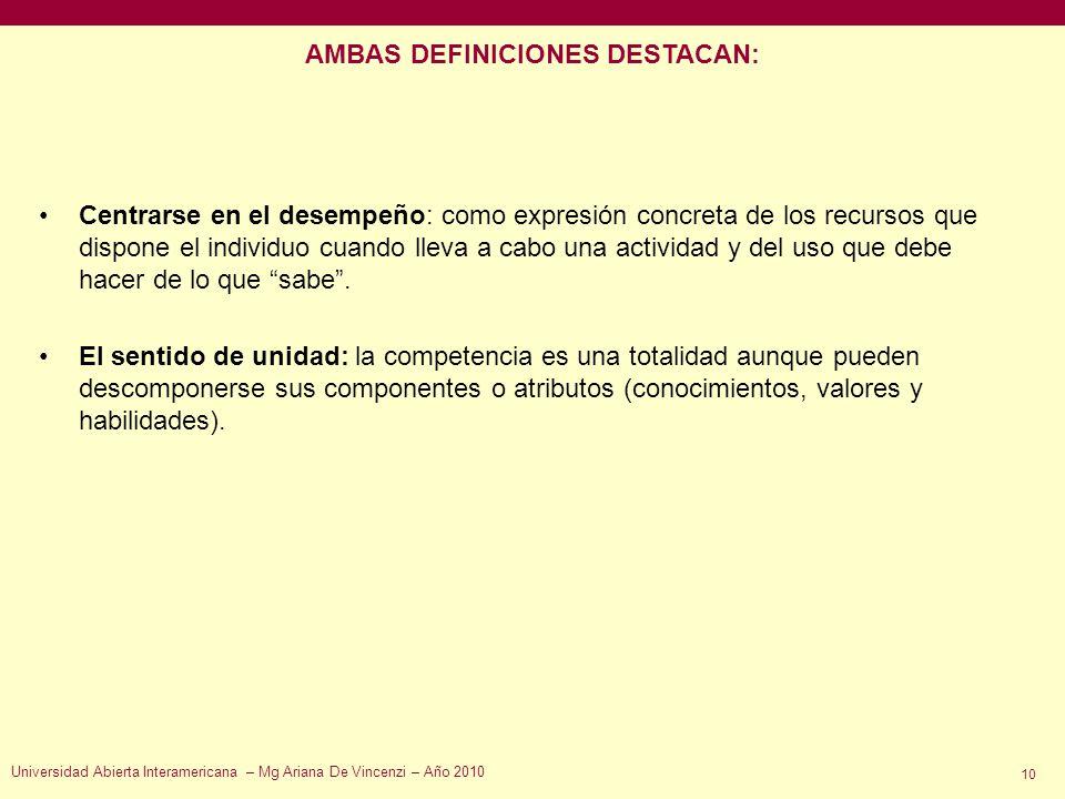 AMBAS DEFINICIONES DESTACAN: