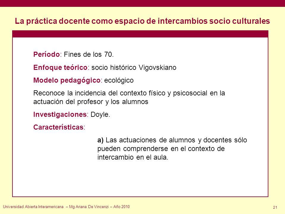 La práctica docente como espacio de intercambios socio culturales