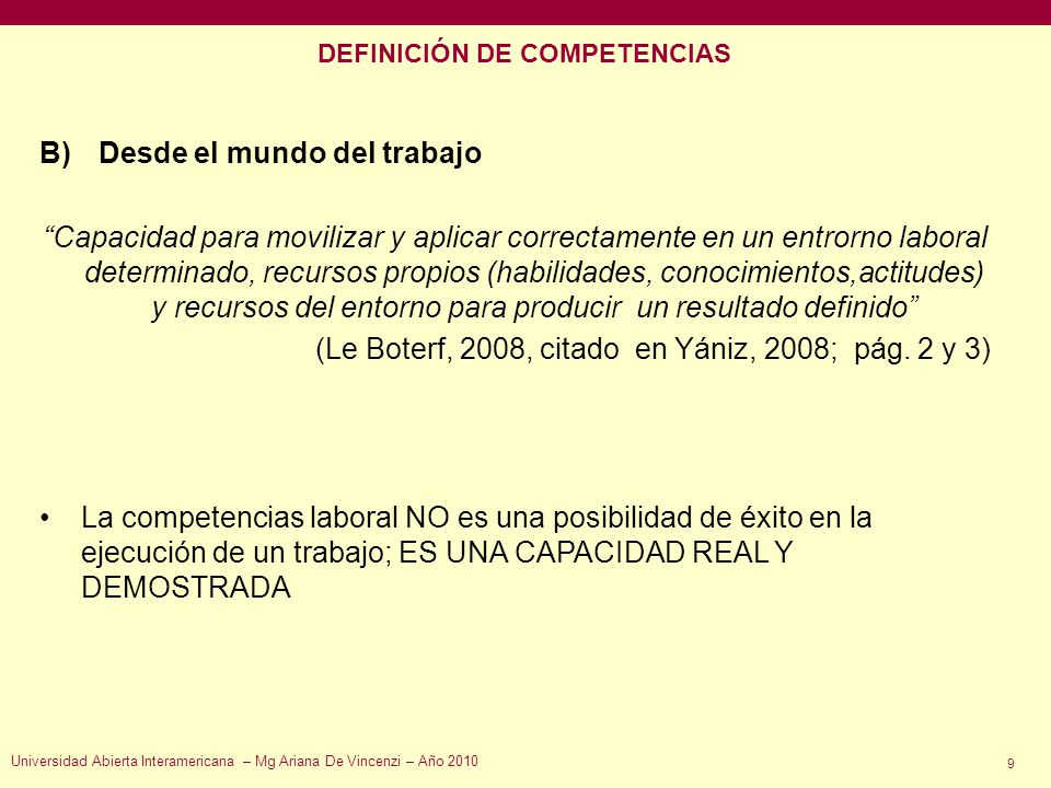 DEFINICIÓN DE COMPETENCIAS
