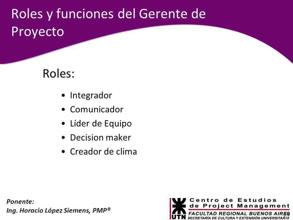 Roles y funciones del Gerente de Proyecto