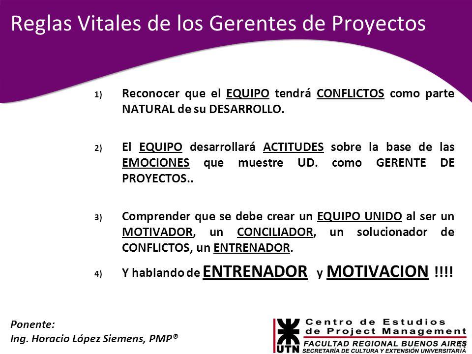 Reglas Vitales de los Gerentes de Proyectos