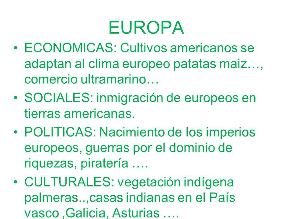 EUROPAECONOMICAS: Cultivos americanos se adaptan al clima europeo patatas maiz…, comercio ultramarino…