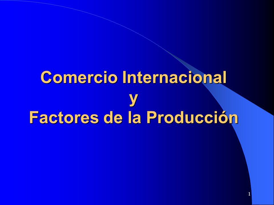Comercio Internacional y Factores de la Producción
