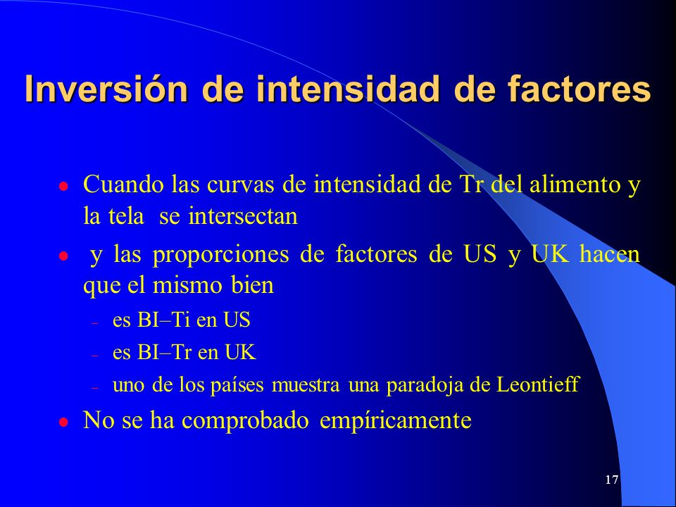 Inversión de intensidad de factores