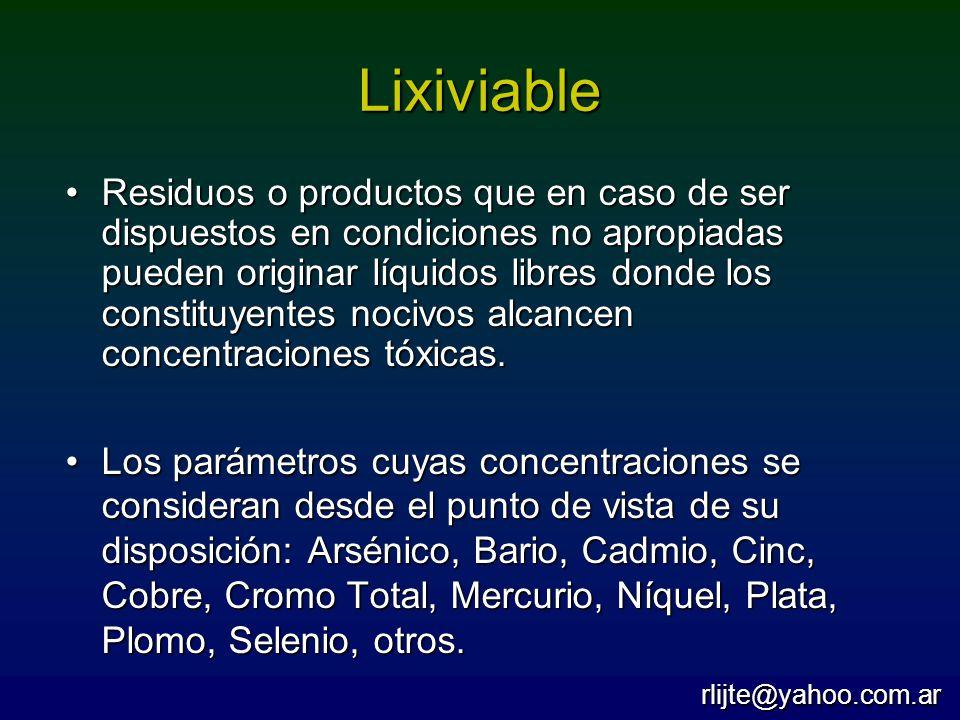 Lixiviable