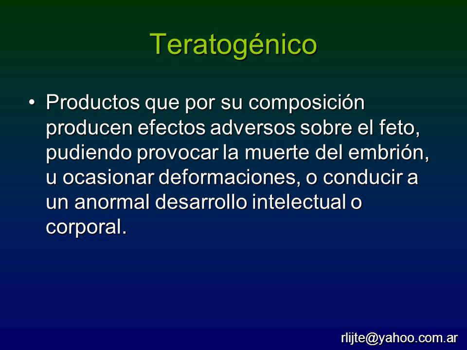 Teratogénico