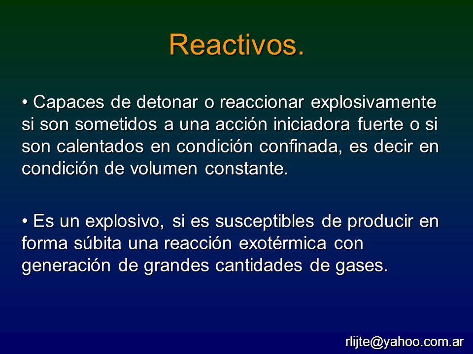 Reactivos.