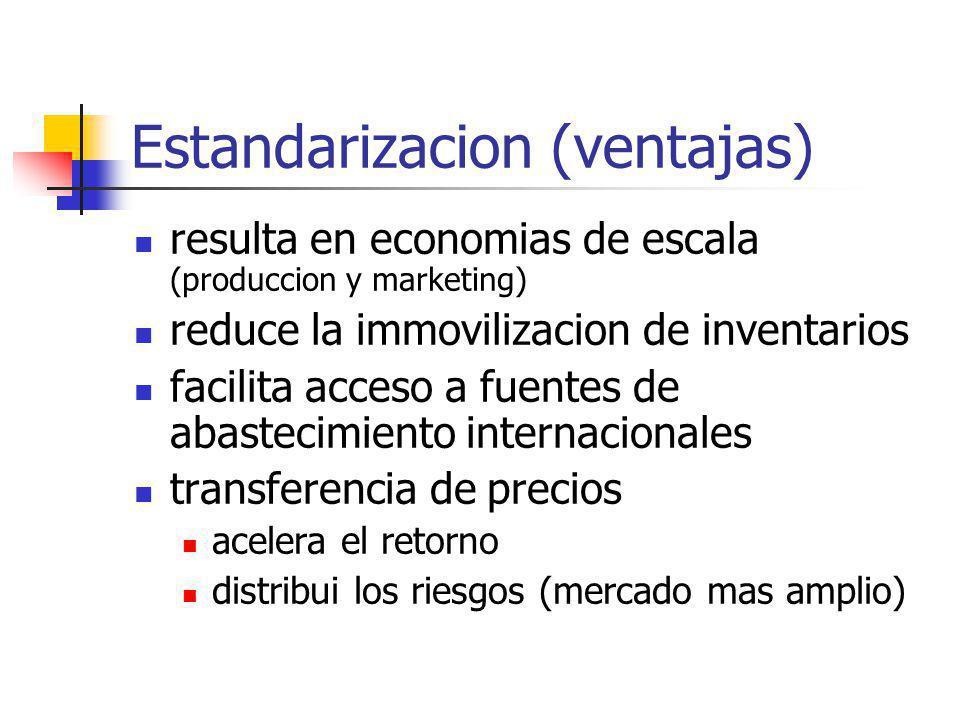 Estandarizacion (ventajas)