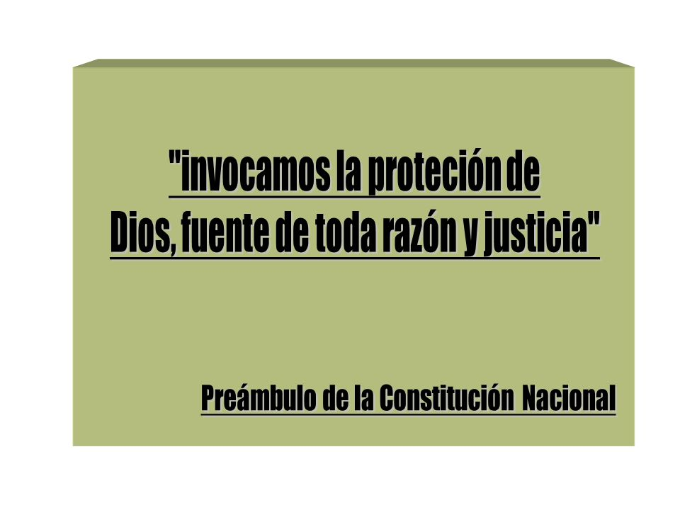 invocamos la proteción de Dios, fuente de toda razón y justicia
