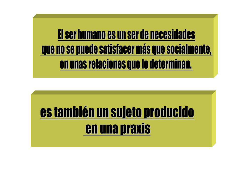 El ser humano es un ser de necesidades