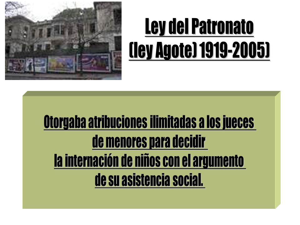 Ley del Patronato (ley Agote) 1919-2005)