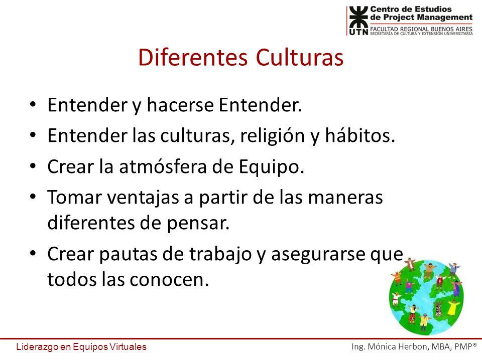 Diferentes Culturas Entender y hacerse Entender.