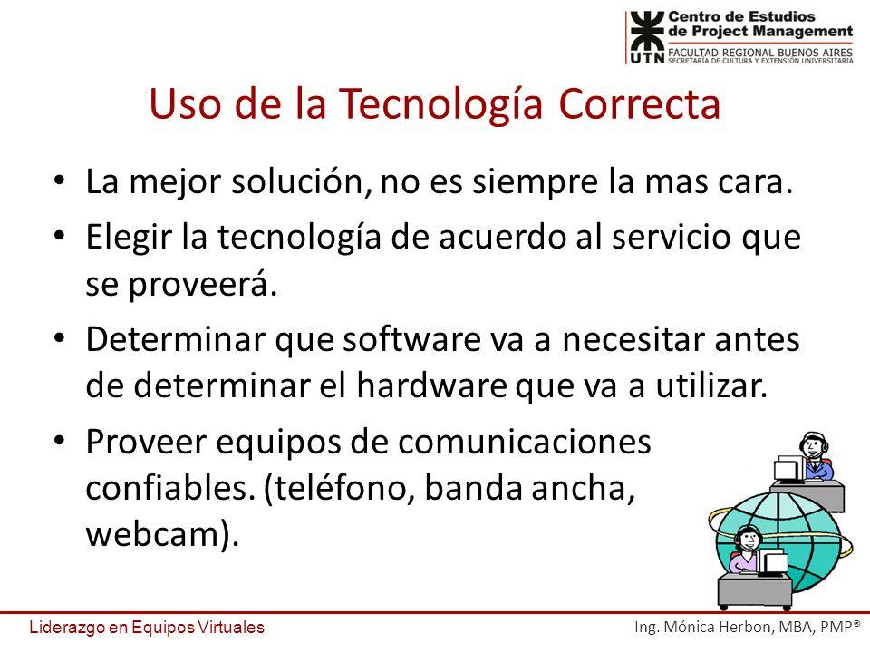 Uso de la Tecnología Correcta