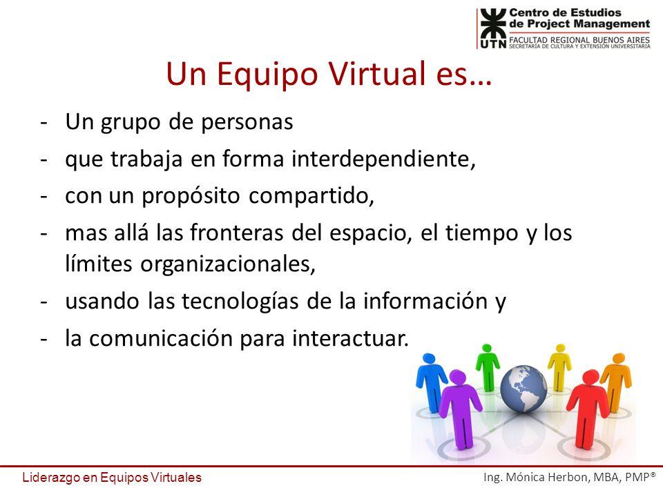 Un Equipo Virtual es… Un grupo de personas
