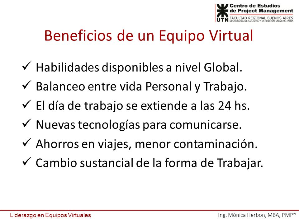 Beneficios de un Equipo Virtual