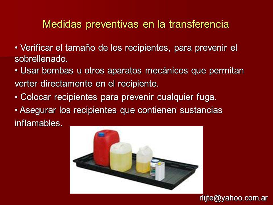 Medidas preventivas en la transferencia