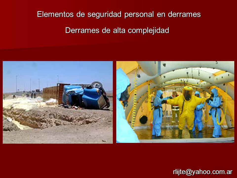 Elementos de seguridad personal en derrames