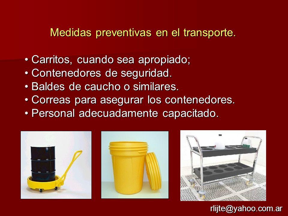 Medidas preventivas en el transporte.