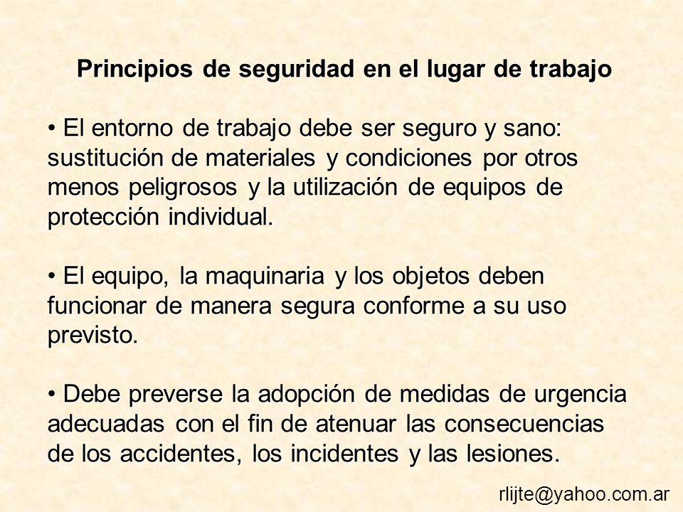 Principios de seguridad en el lugar de trabajo