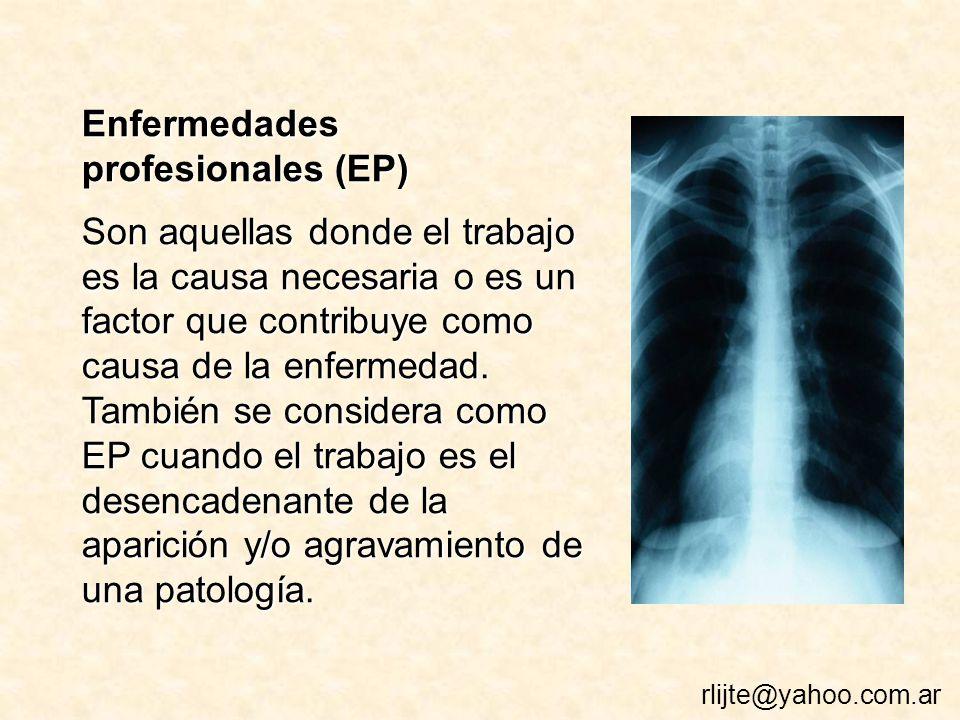 Enfermedades profesionales (EP)