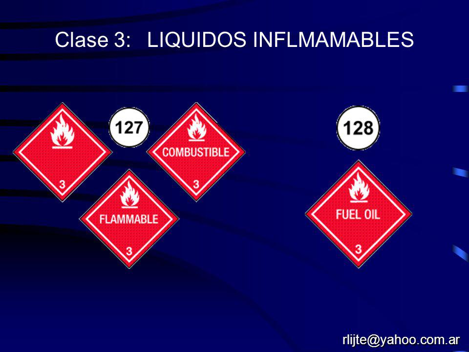 Clase 3: LIQUIDOS INFLMAMABLES