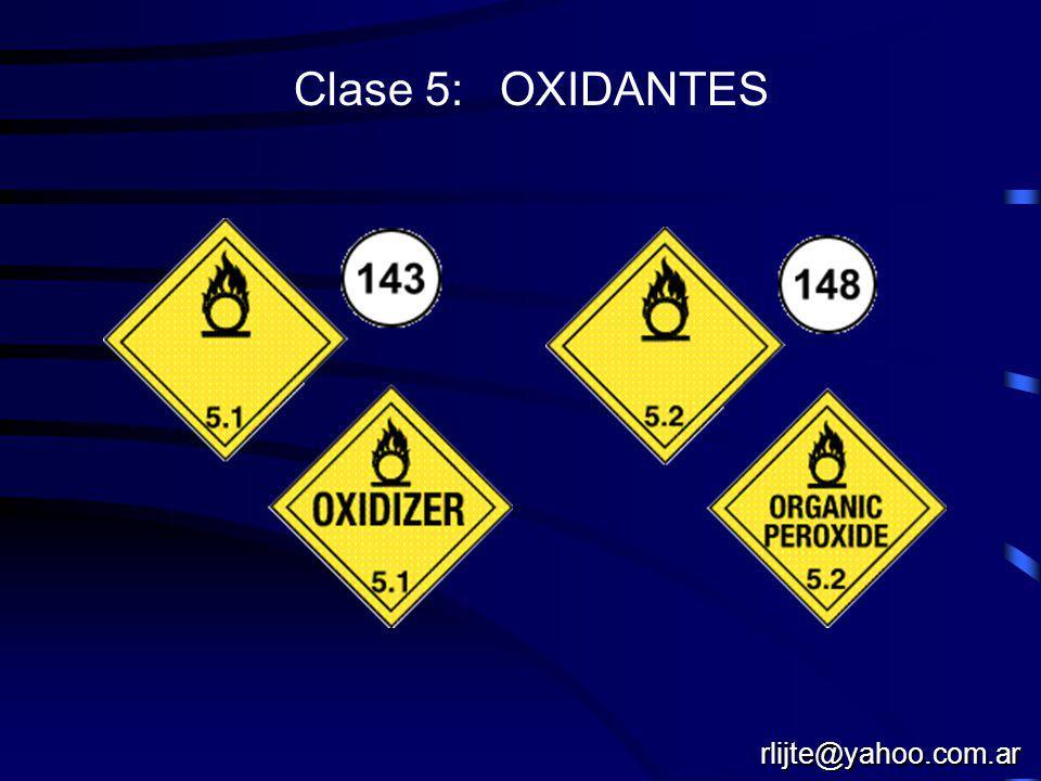 Clase 5: OXIDANTES rlijte@yahoo.com.ar