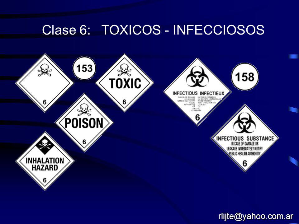 Clase 6: TOXICOS - INFECCIOSOS