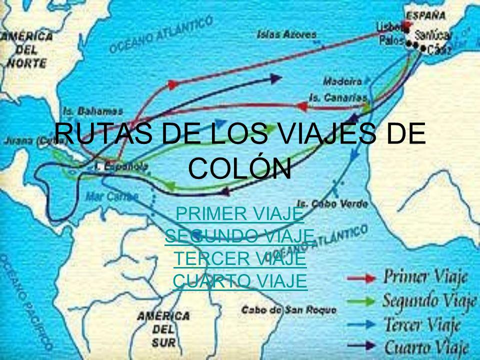 RUTAS DE LOS VIAJES DE COLÓN