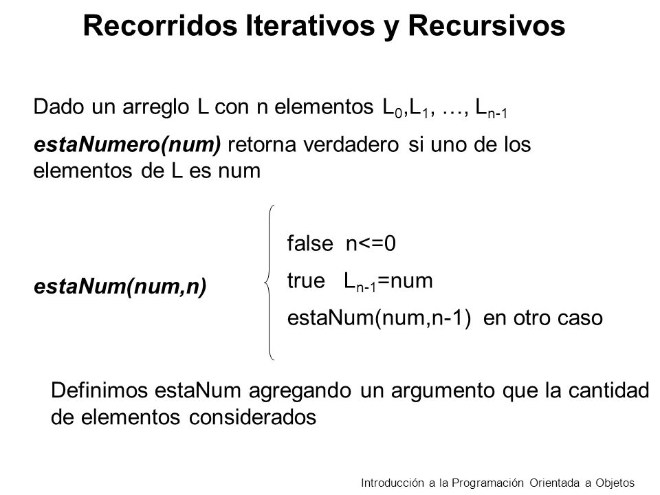 Recorridos Iterativos y Recursivos