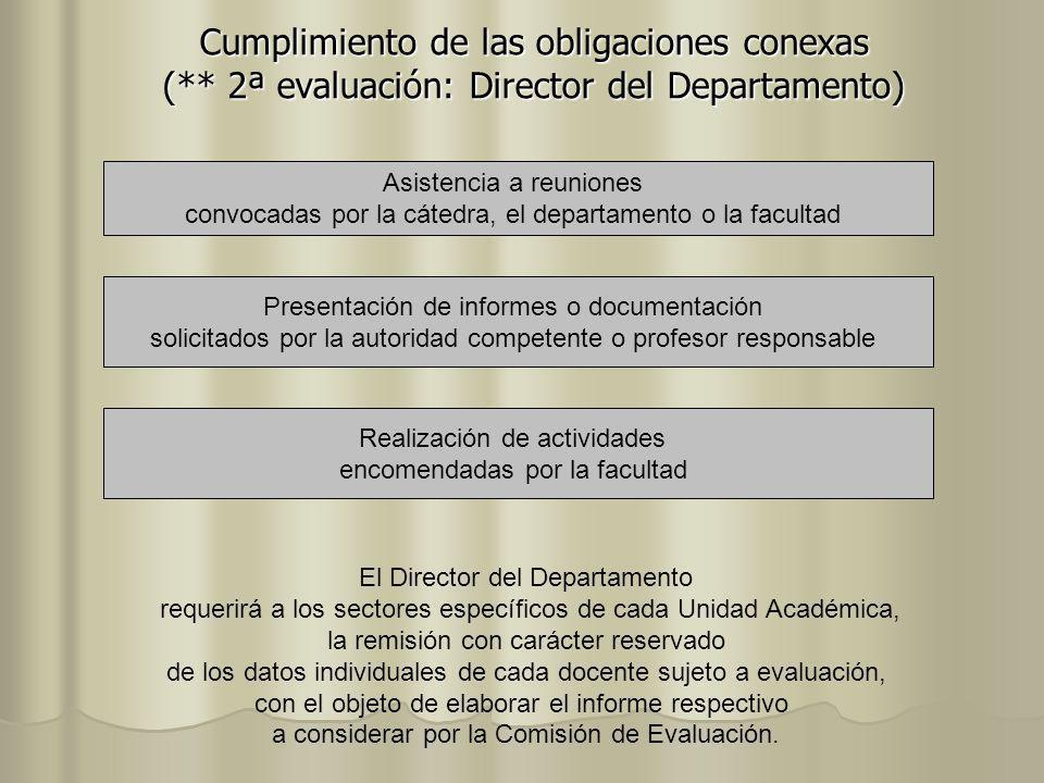 Cumplimiento de las obligaciones conexas (