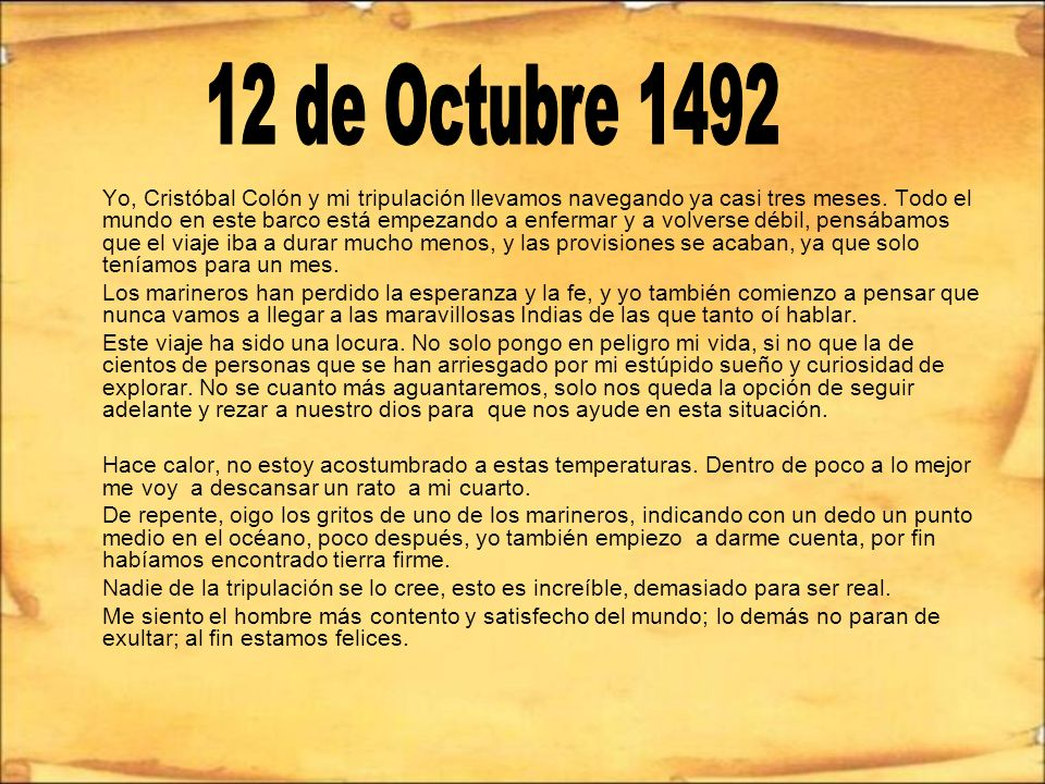 12 de Octubre 1492