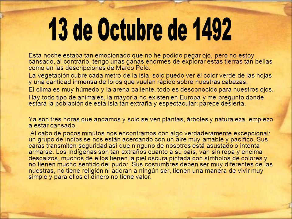 13 de Octubre de 1492