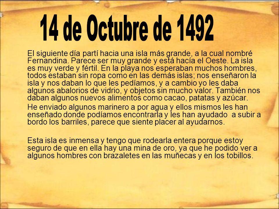 14 de Octubre de 1492
