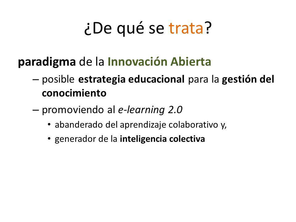 ¿De qué se trata paradigma de la Innovación Abierta