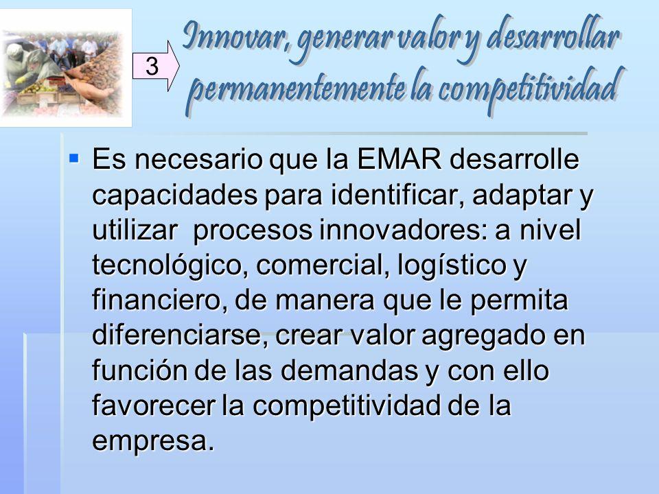 Innovar, generar valor y desarrollar permanentemente la competitividad