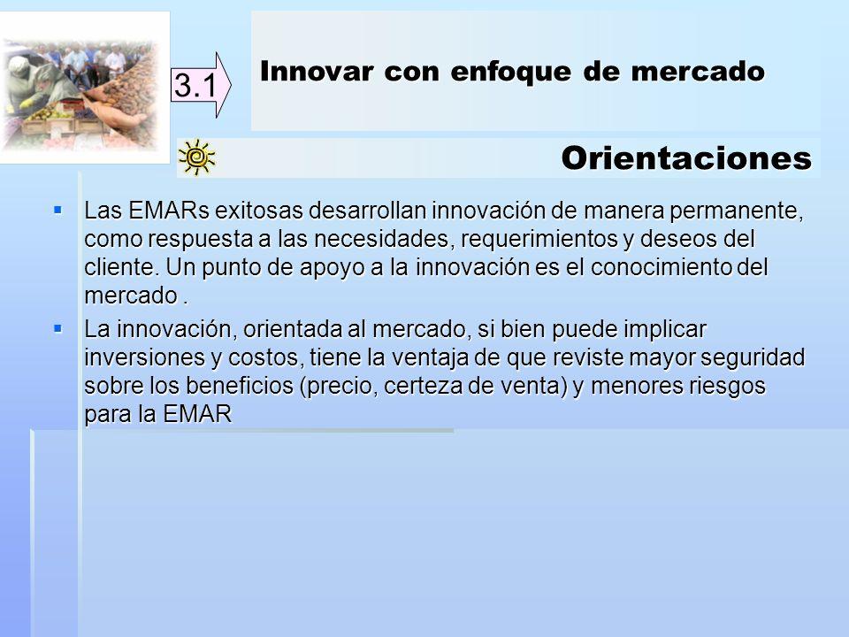 3.1 Orientaciones Innovar con enfoque de mercado