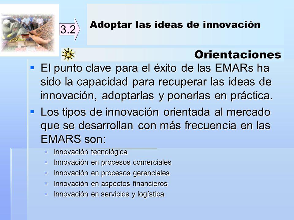Adoptar las ideas de innovación