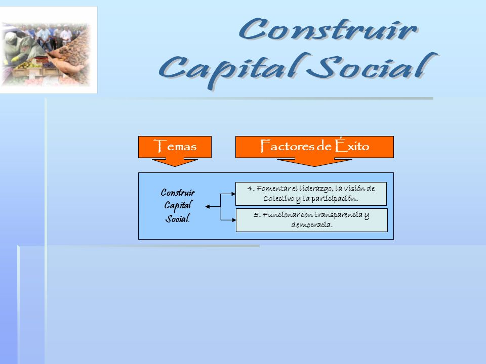 Construir Capital Social Temas Factores de Éxito Construir Capital