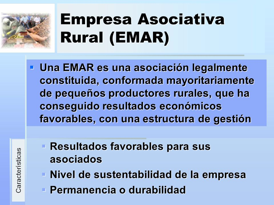 Empresa Asociativa Rural (EMAR)