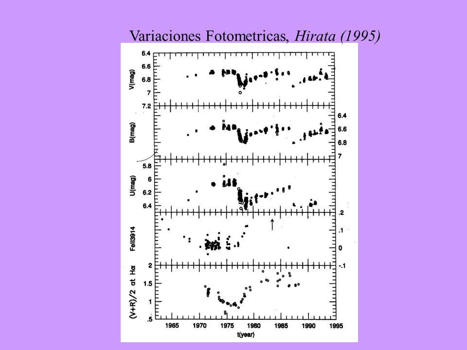 Variaciones Fotometricas, Hirata (1995)