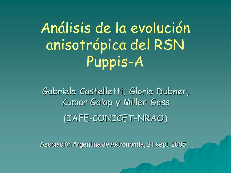 Análisis de la evolución anisotrópica del RSN Puppis-A
