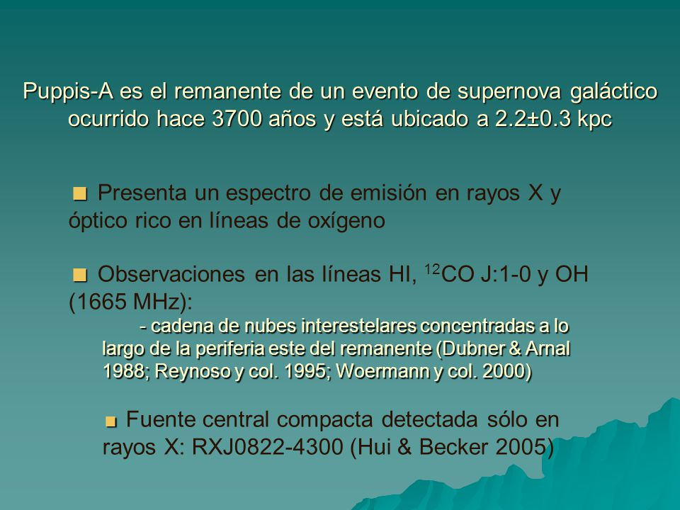  Observaciones en las líneas HI, 12CO J:1-0 y OH (1665 MHz):